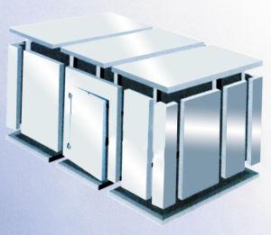 Customized Polyurethane Cold Storage Freezer Room with Auto-Closing Hinge Door pictures & photos