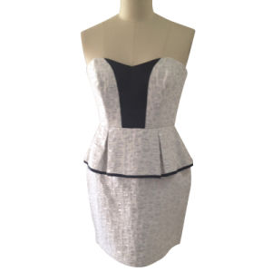 Ladies Fashion Casual Dress in Polyester