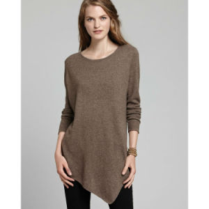 Fashion Long Sleeve Ladies Cotton Sweater pictures & photos