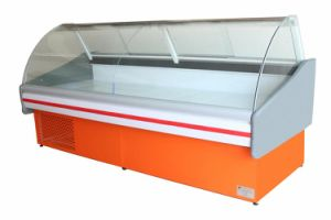 Curved Glass Deli Refrigerator Showcase for Supermarket pictures & photos
