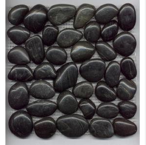 Black Mosaic Pebble