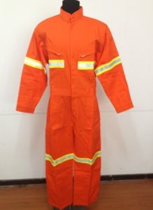 Fr Fabric Reflective Orange Workwear&Coverall for Fire Fighter