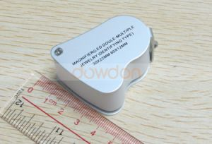 2 In1 Portable Mini Eye Jewelry LED Loupe 30X & 60X Magnifier Jeweler Lens with LED pictures & photos