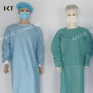 Disposable SMS Non-Woven Surgical Gown with Knitted Cuff pictures & photos