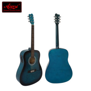 Guitar Guangzhou Factory Colourful Electrical Acoustic Guitar Wholesale (SG028AE) pictures & photos