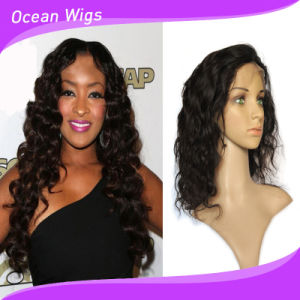 100% Brazilian Virgin Hair 8A Body Wave Indian Hair Full Lace Wigs pictures & photos