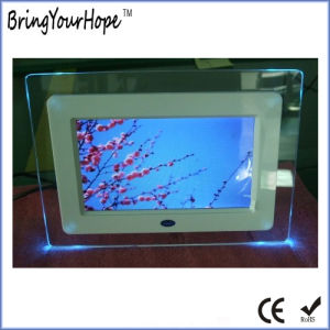 Acrylic LED Lights Digital Photo Frame 7 Inch (XH-DPF-070G) pictures & photos