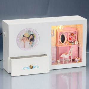 New Arrival Doll House DIY Miniature Furniture with Clock pictures & photos