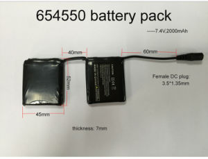 2 Strips Lithium Battery Pack, 7.4V, 2000mAh for Heated Glove, Heated Products pictures & photos