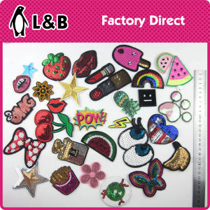 Iron on 3D Embroidery Rose Flower Patches pictures & photos
