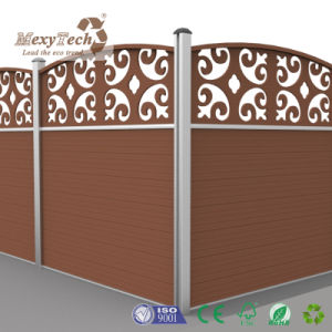 Chinese Style Carve Design Composite Fencing Aluminum Fence with WPC Panels pictures & photos