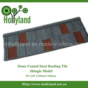 Stone Chips Coated Metal Roofing Sheet (Shingle Type) pictures & photos