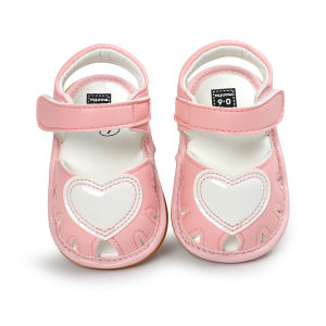 Baby Girl Rubber Sole Non-Slip Outdoor Toddler Summer Sandals First Walkers Shoes pictures & photos