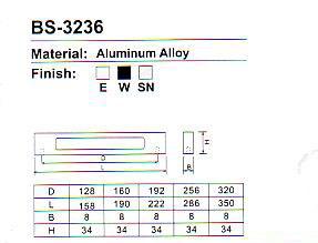 BS-3236 Aluminium Cabinet handle Series pictures & photos
