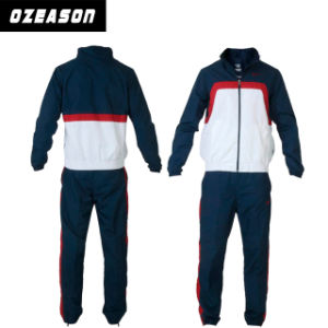 Customized Comfortable Warm up Fitted Velour Soccer Tracksuit (TJ005) pictures & photos
