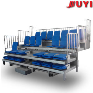 China Durable Sporting Goods Retractable Grandstand Chairs with Solid Wood Armrest Tip-up Plastic Wholesale Stadium Seats pictures & photos