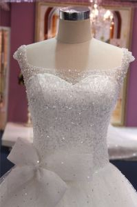 Beading Bow Ball Bridal Wedding Dress Bridal Gown pictures & photos