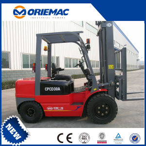 Heli 3 Ton Diesel Forklift Cpcd30q3k with Low Mast Forklift Price pictures & photos