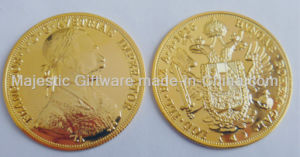 Zinc Die Cast Gold Plating 3D Coin pictures & photos