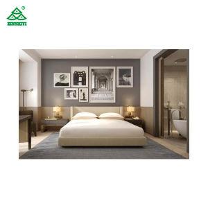 5 Star Luxury Hotel Bedroom Furniture King Size Headboard Solid Walnut