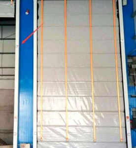 Wind-Resistant Rapid Stacking High Speed PVC Roller Shutter Doors (Hz-021) pictures & photos