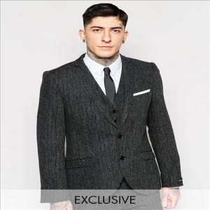 2016 Men′s Top Quality New Look Grey Wool Suit Jacket pictures & photos