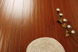 Engineered Bamboo Flooring Teak Color Handscraped pictures & photos