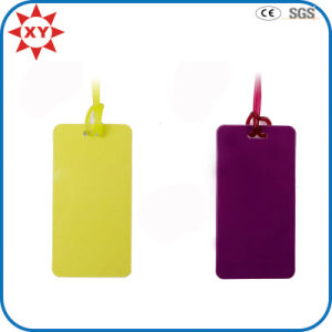 Custom Pure Color Silicone Luggage Tag pictures & photos