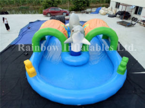 Best PVC Commercial Dolphin Inflatable Swimming Pool for Sale pictures & photos