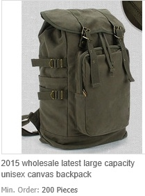 Large Capacity Unisex Canvas Backpack