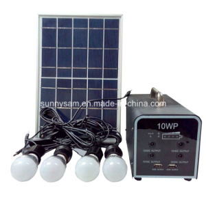 Small Mini Rechargeable LED Solar Home System Lighting pictures & photos