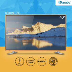 40-Inch Cheap Price LED 1080P HD Television with Aluminium Alloy Fram Cp40we-5L pictures & photos