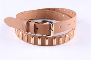 Fashion Studs Women′s PU Belt-Jbe1622