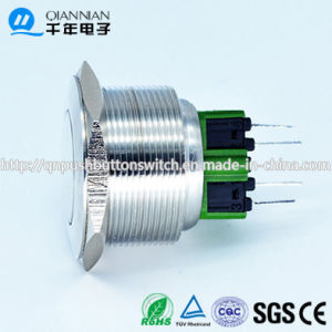 28mm Flat Head on on Stainless Steel Push Button Switch pictures & photos
