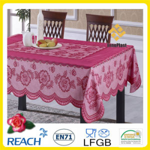 PVC Lace Color Table Cloth for Banquet/ Home pictures & photos