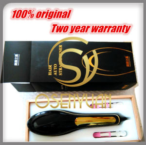 LCD Screen Ceramic Hair Straightener Electric Brush Comb pictures & photos