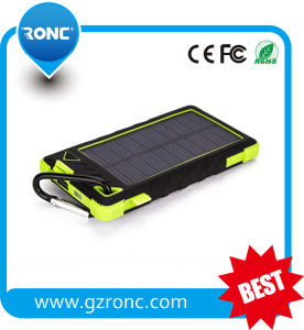 2017 Full Capacity 8000mAh Waterproof Mobile Solar Power Bank pictures & photos