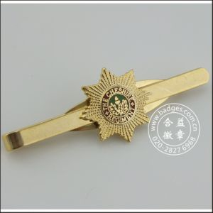 Custom Gold Plated Tie Clip with Badge (GZHY-LDJ-006) pictures & photos