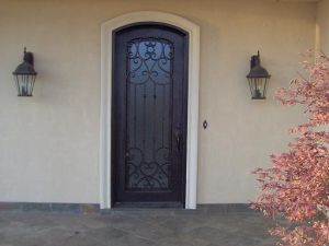 United Iron Work Competitive Price Single Doors Entrance Designs (UID-S062) pictures & photos
