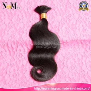 7A Geade Sew in Hair Brazilian Body Wave/ Straight Raw Cheap Bulk Hair Weaving pictures & photos