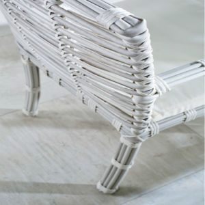 Latest Design Waterproof UV-Resistance Synthetic PE White Wicker Chair for Balcony pictures & photos