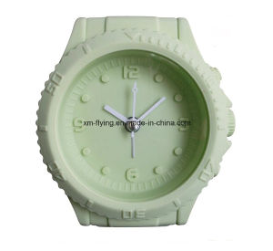 Promotional Creative Watch Shape Twin Bell Silicone Quartz Mini Alarm Clock for Table Decoration pictures & photos