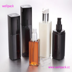 250ml Square Cosmetic Bottle with Sprayer pictures & photos