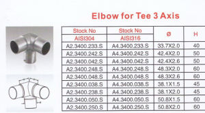 Elbow for Tee 3 Axis pictures & photos