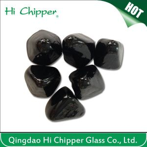 Black Glass Gemstone Cashew Shape Fire Pit pictures & photos