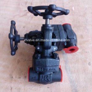 API602 Forged Carbon Steel A105 Thread NPT Globe Valve pictures & photos