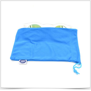 Blue Microfiber Single Sied Pull Sunglasses Pouch pictures & photos