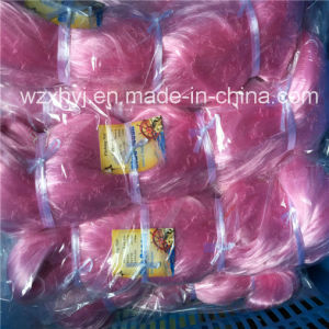 0.19mm 68mmsq 200md 150m Cheap Pink Nylon Monofilament Fishing Net pictures & photos
