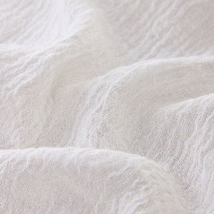 Soft Linen Fabric Gauze Creases Fold Linen Fabric