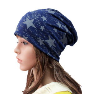 Fashion Star Printed Cotton Knitted Winter Warm Ski Hat (YKY3125) pictures & photos